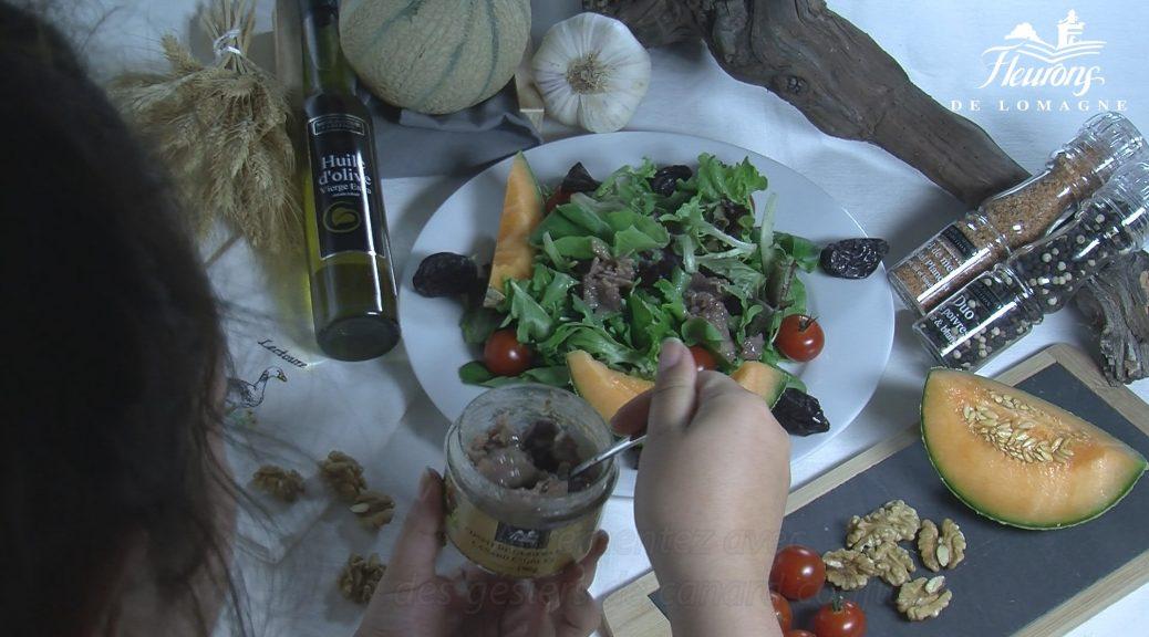 vidéo recette salade au foie gras