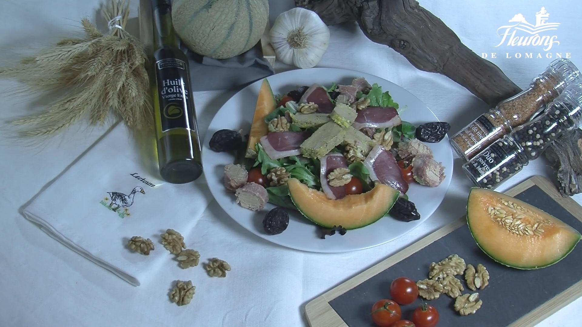 recette de salade au foie gras de canard