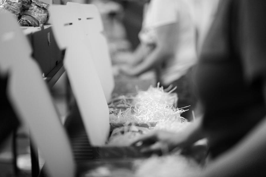 préparation d'un panier gourmand