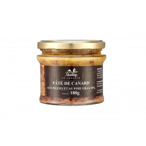 Pâté de canard aux figues et au foie gras (20% FG) 180g (bocal)