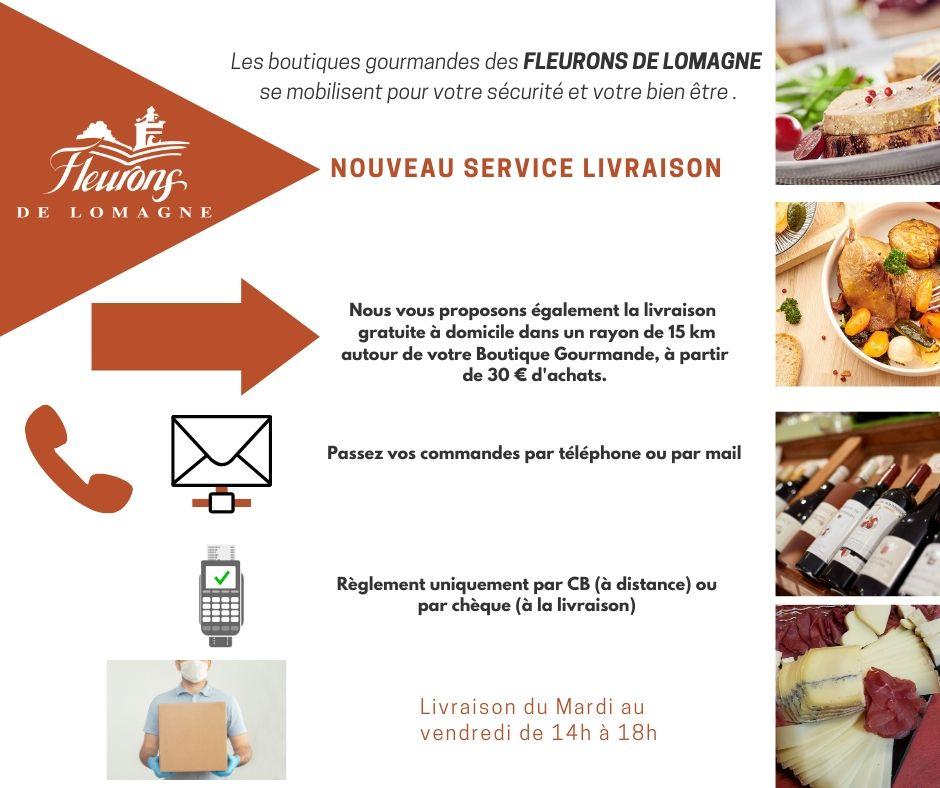 livraison à domicile de foie gras dans le Gers et Lot et Garonne