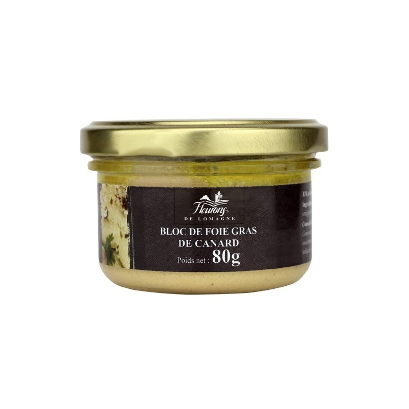Bloc de foie gras de canard 80g (bocal)
