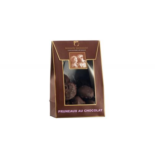 Pruneaux dénoyautés enrobés de chocolat noir 100g (sachet)