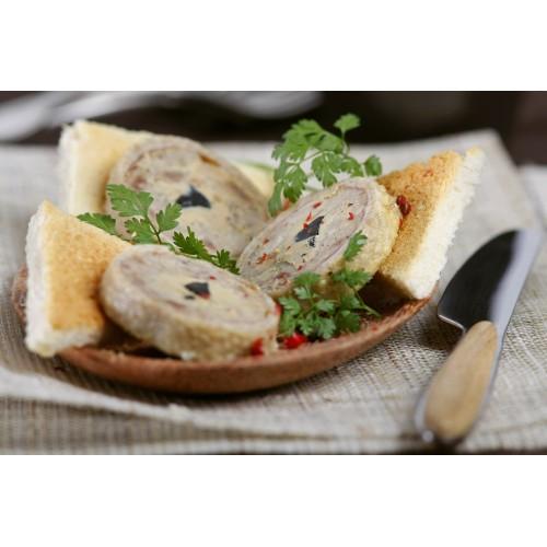 Cou de canard farci au foie de canard (20% FG) 380g (boîte fer)