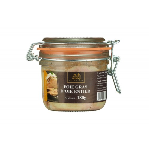Whole goose foie gras 180 grams jar