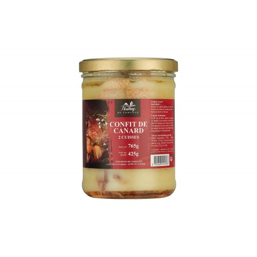 Confit of duck - 2 legs - 765 grams (jar)