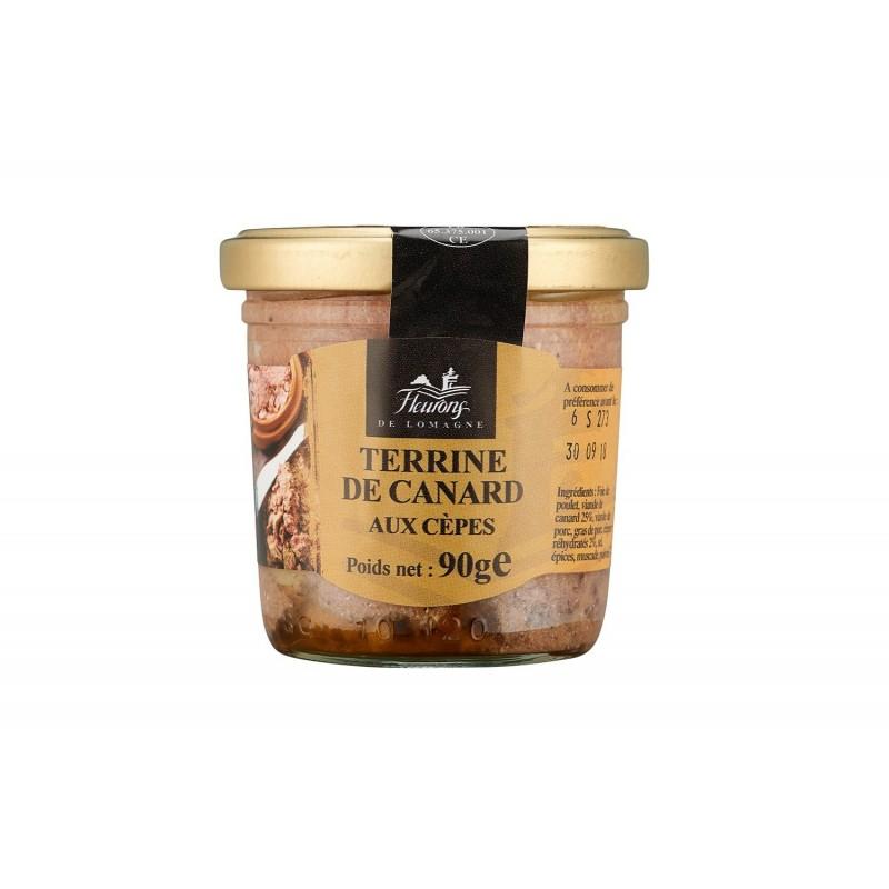 Terrine de canard aux cèpes 90g (bocal)