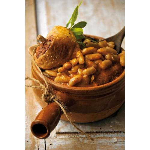 Cassoulet aux manchons de canard confits 740g (bocal marmite)