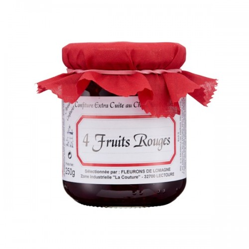 Confiture quatre fruits rouges  250g (bocal)