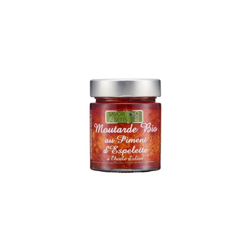 Moutarde au piment d'Espelette Bio 130g (ref:7314)