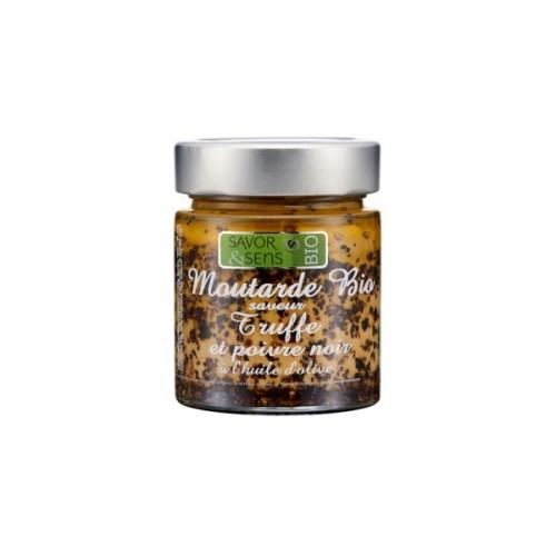 Moutarde saveur truffes et poivre noir Bio 130g (ref:7303)