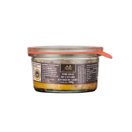 Foie gras de canard entier IGP Gers 100g (bocal)