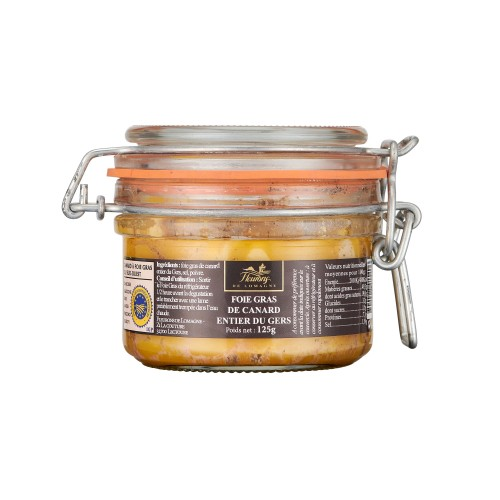 Foie gras de canard entier IGP Gers 125g (bocal)