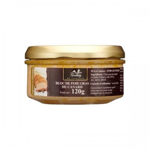 Bloc de foie gras de canard 120g (bocal)