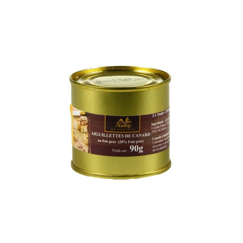 Aiguillettes de canard au foie gras (20% FG) 90g (boîte)