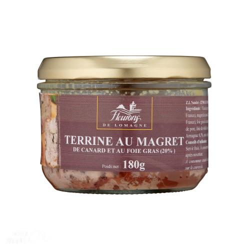 Terrine au magret de canard et au foie gras (20% FG) 180g (bocal)