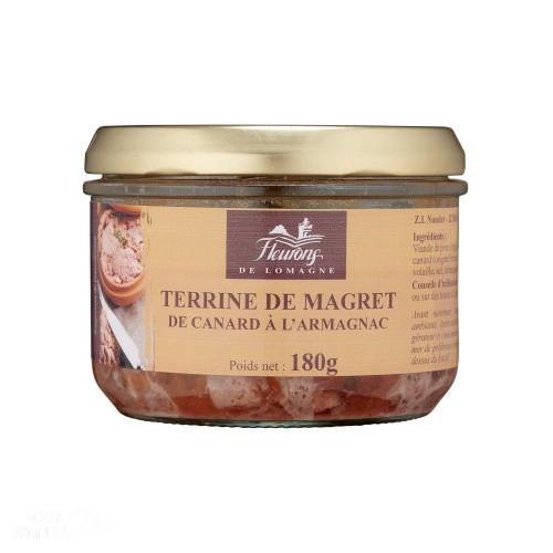Terrine au magret de canard à l'Armagnac 180g (bocal)