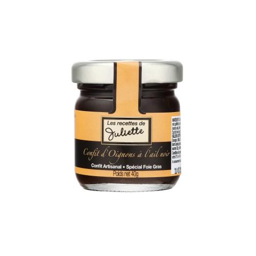 Confit d'oignons à l'ail noir 40g (bocal)