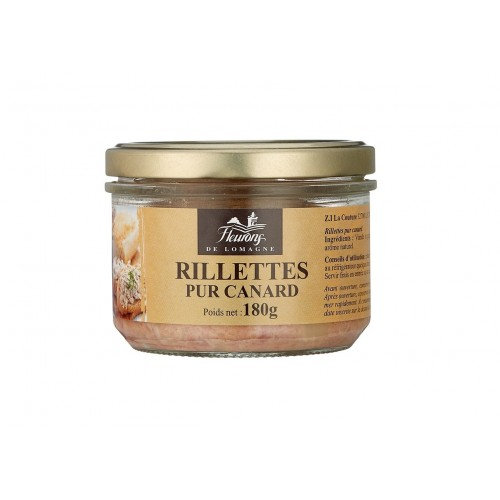 Rillettes pur canard 180g (bocal)