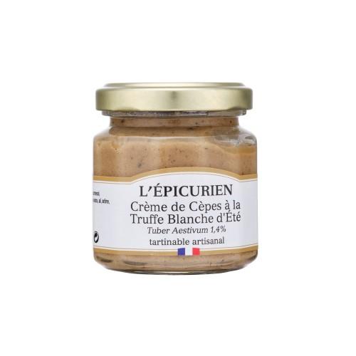 Crème de cèpes à la truffe blanche (1,4%) 100g (bocal)