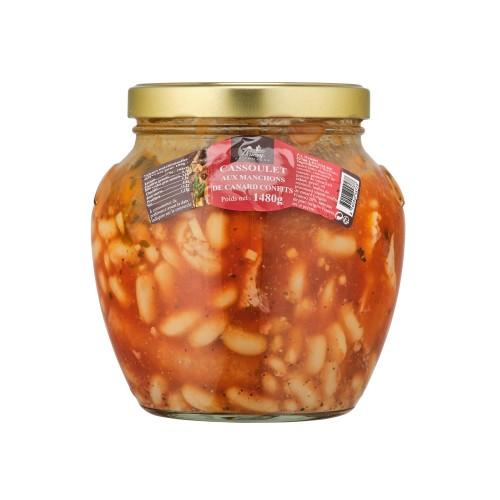 Cassoulet aux manchons de canard confits 1480g (bocal)