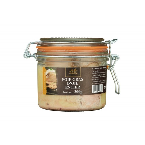 Whole goose foie gras 300 grams jar