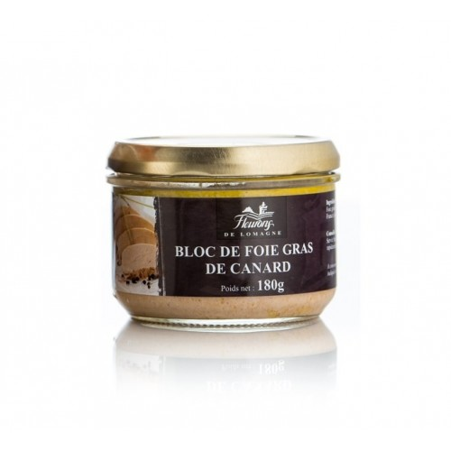 Bloc of duck foie gras 180 grams jar