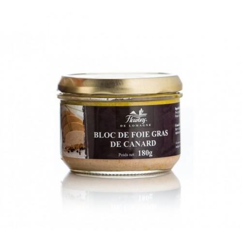 Bloc of duck foie gras 180 grams jar